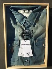 Size Large Men's Vintage H-BAR-C 100% Cotton Denim Weave Western Shirt