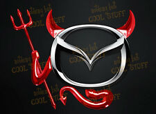 RED DEVIL KIT  3D Devil Car Emblem Decal Badge Sticker Kit Fits Around Car Logo