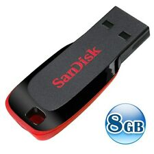 SANDISK CRUZER BLADE 8GB 8G USB Flash Pen Key Thumb Drive Memory Stick NEW