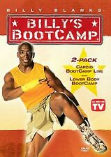Billy Blanks - CARDIO LIVE & LOWER BODY BOOTCAMP (DVD) workout tae bo taebo NEW