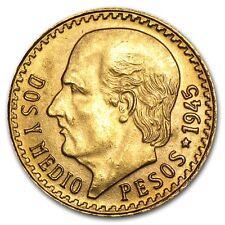 Mexican 2 1/2 Pesos Gold Coin - Random Year Coin - SKU #1047