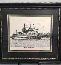 """""""BELLE OF LOUISVILLE """"Art Print by Robert L. Conely - Vintage Pencil Signed"""