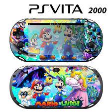 Vinyl Decal Skin Sticker for Sony PS Vita Slim 2000 Super Mario Luigi