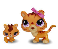 #3593 & #3594 Littlest Pet Shop Orange yellow Tiger Cat LPS
