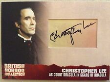 BRITISH HORROR COLLECTION PREVIEW SET: CUT AUTOGRAPH CARD: CHRISTOPHER LEE CL9