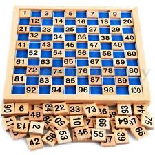 Wooden Educational Counting Number 1 to 100 Child Kids Intellectual Maths Games