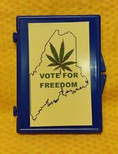 """State of Maine """"Vote For Freedom"""" Plastic Snap Lock Cigarette Case"""