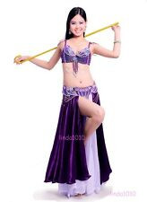 D &DD CUP CB801 Belly Dance Costume Outfit Set Bra Belt Carnival Bollywood 2 PCS