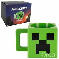 New Minecraft Plastic Creeper Face Mug Green Coffee Novelty 8oz Jinx Official
