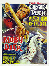 Moby Dick Gregory Peck vintage movie poster print #2