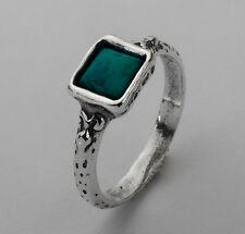 R01341TU SHABLOOL ISRAEL Didae Turquoise Sterling Silver 925 Ring Sz. 6 7 8 9