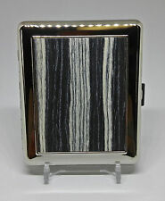 Kingstar Wood Plate Style #3 Double Sided Metal King Size Cigarette Case