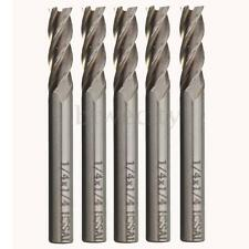 5Pcs 4 Flute HSS End Mill Cutter Milling Machine CNC Cutting Mould Tools 1/4x1/4