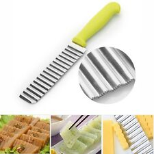 Crinkle Knife Potato Chip Slicer Wavy Cutter Stainless Steel Blade