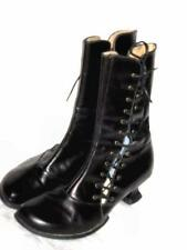 WOMENS JOHN FLUEVOG MINIS BLACK LACE UP STEAMPUNK BOOTS  7