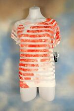 NEW $69 INC INTERNATIONAL CONCEPTS floral sheer striped sexy blouse top shirt XL