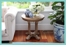 *IN STOCK!* NEW French Provincial Reclaimed Wood Round Side Table