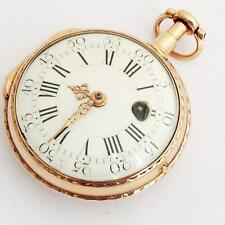 G.H Nagel French 18K pure gold  verge fusee pocket watch  No169