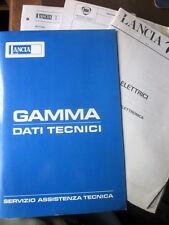 LANCIA GAMMA - SERVIZIO ASSISTENZA TECNICA - DATI TECNICI