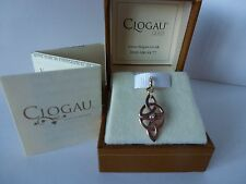 Clogau Welsh Gold, 9ct Yellow & Rose Gold Diamond Celtic Charm