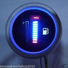 """12V 2.2"""" 58mm Motor Car Auto Digital Blue LED Fuel Oil Gasoline Gauges Gauge"""