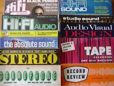 VINTAGE HI-FI & AUDIO MAGAZINES ~ Practical / Pleasure / Studio Sound / Tape