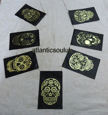 PF9 Himalayan Lokta paper 7 different SKULL designs printed Indoor Flags Nepal