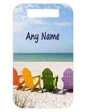 Personalized BEACH CHAIRS BAG TAG For Luggage Bags Backpacks 2 Sides Printed