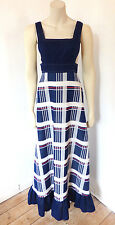 Vintage 1960s 60s / 70s Dorothy Perkins ICI Crimplene Mod Maxi Dress UK Size 8