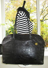 AUTHENTIC VINTAGE MULBERRY BLACK REPTILE CONGO LEATHER TETBURY SHOULDER HAND BAG