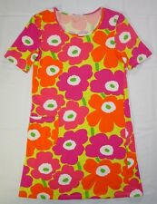 Womens Marimekko Dress Size XS Tunic Puuske Floral Short Sleeve V53