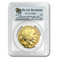2013-W 1 oz Reverse Proof Gold Buffalo Coin - PR-69 Black Diamond PCGS
