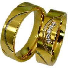 2 Eheringe Partnerringe Hochzeitsringe Paarringe Trauringe 6 mm & Gravur