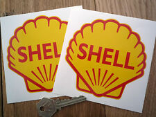 "Classic Shell Oils 4"" shell Race & Rally Car Stickers."