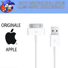 NUOVO CAVO APPLE ORIGINALE MA591 IPHONE 3 3GS 4 4S IPAD 2 BULK USB RICARICA IPOD