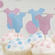 Ginger Ray Baby Shower Cupcake Toppers Little Lady Or Mini Mister Design