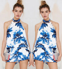 Sexy Women Clubwear Floral Playsuit Bodycon Party Jumpsuit Romper Trousers S wxx
