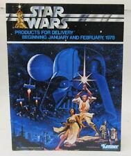 rare Kenner STAR WARS 1977 Dealer CATALOG Products for Jan - Feb 1978 Delivery