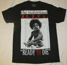 SMALL MENS GRAPHIC T-SHIRT THE NOTORIOUS B.I.G.READY TO DIE MUSIC BIGGIE SMALLS!
