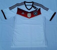 Mens XL White Adidas Short Sleeves Germany DFB Home Soccer Jersey (4S) M35022