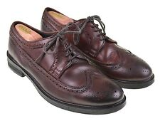 All Saints Spitalfields Burnished Burgundy Leather LWB Longwing Blucher Shoes 45