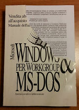 Microsoft Windows per Workgroup & MS-DOS manuale dell'utente retrocomputer Pc