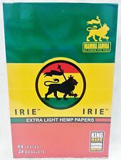 Full Box 24 Packs King Size Irie Extra Light Hemp Cigarette Rolling Papers