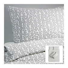 Ikea Krakris squiggles King size duvet set & 4 pillow cases 240 x 220 NEW