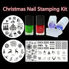 7Pcs/kit BORN PRETTY  Nail Art Plaques de Satmping Vernis de Stamping et Tampon