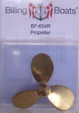 Billing Boats Accessory BF-654R - 1 x M4 x 50mm Right Hand Propeller Brass 1st P