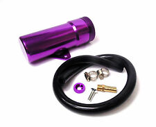 Purple Alloy Oil/Water Tank Bottle 8mm Outlet & Cap Universal Kit Car Motorbike