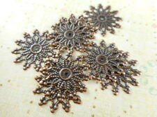 30 Antique Copper Plated Filigrees Medallion Findings 24270