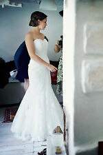 Stunning Mullet La Sposa (Pronovias) wedding dress size 36-38 off white