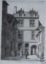 ARMAND QUEYROY 1830-1893 GRAVURE VENDOME ANCIENNE CHAMBRE DES COMPTES XIX e